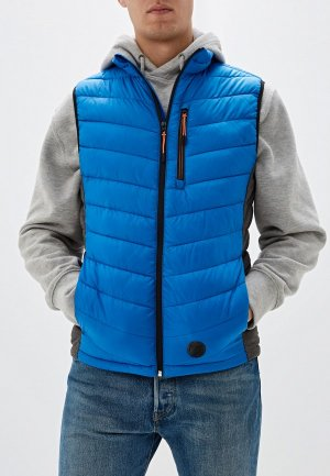 Жилет утепленный Tom Tailor. Цвет: голубой