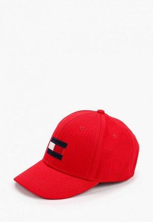 Бейсболка Tommy Hilfiger. Цвет: красный