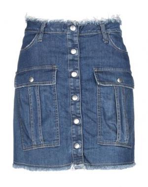 Джинсовая юбка PLEASE. Цвет: синий
