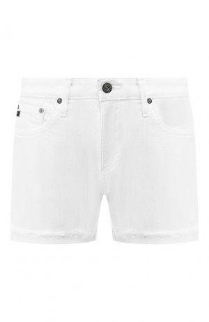 Джинсовые шорты Ag. Цвет: белый