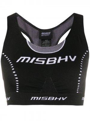 Спортивный бюстгальтер Sport Active Wear MISBHV. Цвет: черный