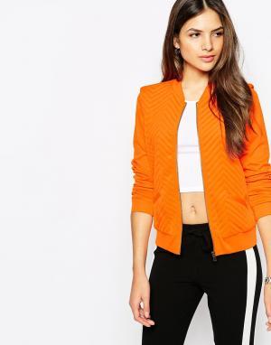 Стеганая куртка-пилот Vero Moda. Цвет: красно-оранжевый