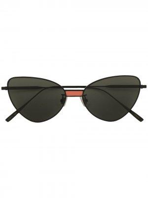 Солнцезащитные очки Chakra M01 в оправе кошачий глаз Gentle Monster. Цвет: черный