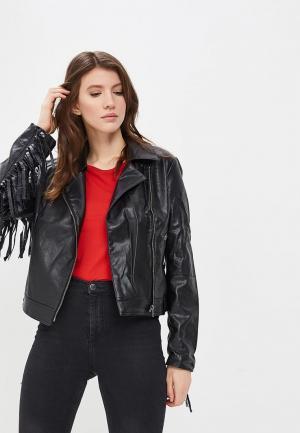 Куртка кожаная SH. Цвет: черный