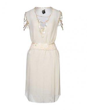 Платье длиной 3/4 JEAN PAUL GAULTIER FEMME. Цвет: слоновая кость