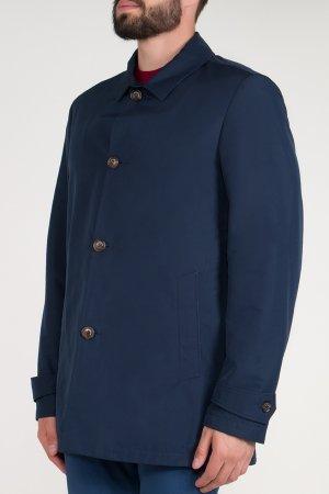 Удлиненная куртка с застежкой на пуговицы BILANCIONI. Цвет: синий