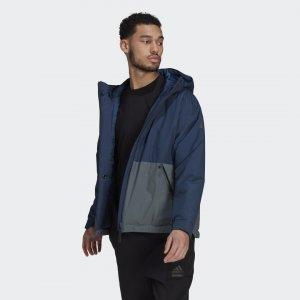 Утепленная куртка Urban Performance adidas. Цвет: синий