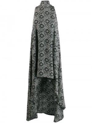 Платье асимметричного кроя с вырезом халтер Antonio Berardi. Цвет: черный