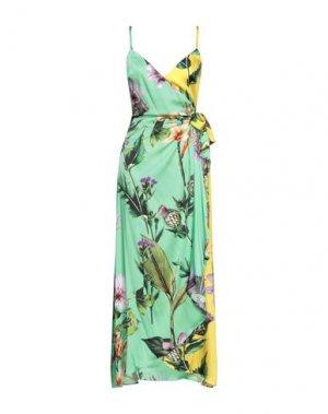 Длинное платье CLIPS. Цвет: светло-зеленый
