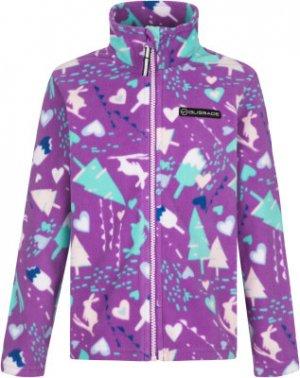 Джемпер флисовый для девочек , размер 116 Glissade. Цвет: фиолетовый