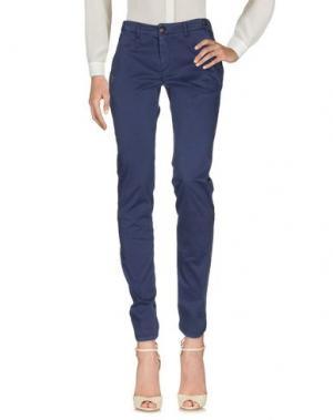 Повседневные брюки DAKS SPORT. Цвет: грифельно-синий