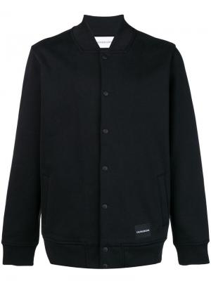 Куртка-бомбер с логотипом Calvin Klein Jeans. Цвет: черный