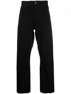 Прямые брюки с нашивкой-логотипом Carhartt WIP. Цвет: черный