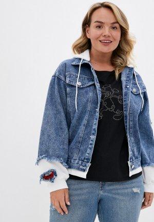 Куртка джинсовая Rosedena. Цвет: синий