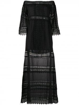 Платье макси Gamma в технике кроше Charo Ruiz Ibiza. Цвет: черный