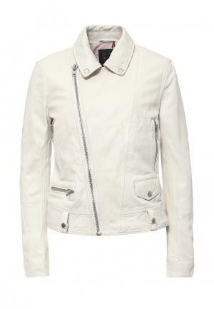 Куртка кожаная Blouson BL033EWQGN32. Цвет: белый