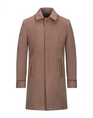 Пальто DANIELE ALESSANDRINI HOMME. Цвет: светло-коричневый
