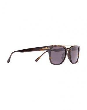 Солнечные очки DUNHILL. Цвет: темно-коричневый