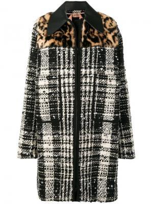 Твидовое пальто свободного кроя Nº21. Цвет: черный