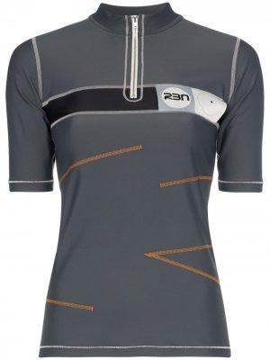 Рубашка-поло x RBN на молнии с контрастной строчкой Bjorn Borg. Цвет: серый