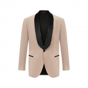 Хлопковый пиджак Brunello Cucinelli. Цвет: бежевый