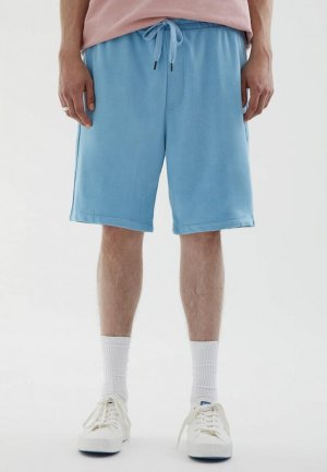 Шорты спортивные Pull&Bear. Цвет: голубой