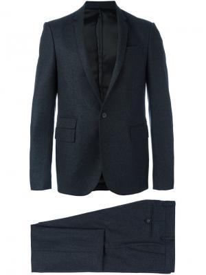 Классический костюм-двойка Les Hommes. Цвет: серый