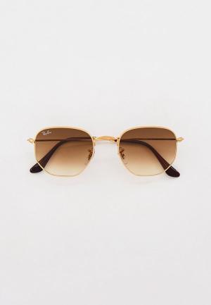 Очки солнцезащитные Ray-Ban® RB3548 001/51. Цвет: золотой