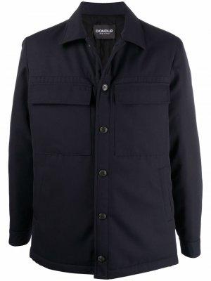Куртка-рубашка с карманами DONDUP. Цвет: синий