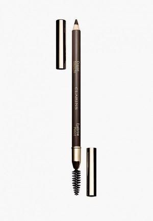 Карандаш для бровей Clarins Crayon Sourcils, 02 light brown, 1,1 гр.. Цвет: коричневый