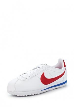 Кроссовки Nike CLASSIC CORTEZ LEATHER WOMENS SHOE. Цвет: белый