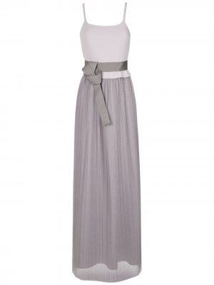 Pleated maxi gown Gloria Coelho. Цвет: серый