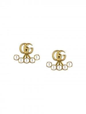 Серьги с логотипом Double G и жемчугом Gucci. Цвет: 8078 undefined