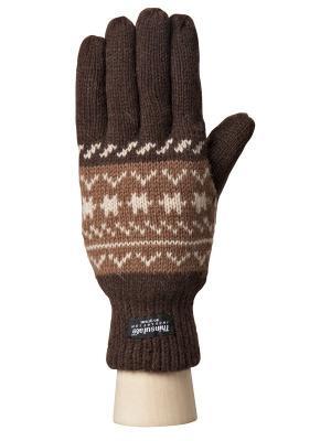 Перчатки Modo. Цвет: темно-коричневый, бежевый, коричневый