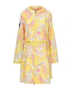 Легкое пальто VDP COLLECTION. Цвет: желтый