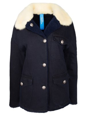 Джинсовая куртка с мехом ENJOY. Цвет: разноцветный