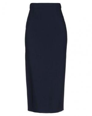 Юбка длиной 3/4 ANTONIO BERARDI. Цвет: темно-синий