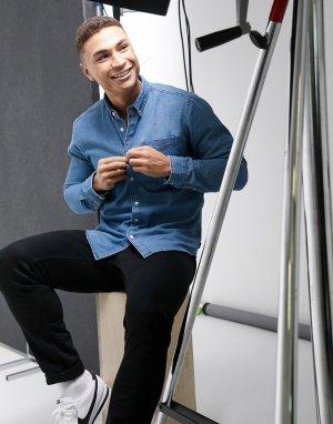 Синяя джинсовая рубашка -Синий Esprit