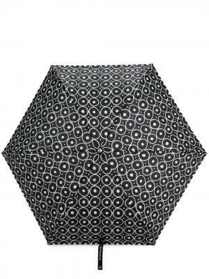 Зонт Bubbles с геометричным принтом 10 CORSO COMO. Цвет: черный