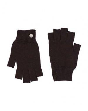 Перчатки RICK OWENS. Цвет: темно-коричневый