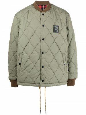 Двусторонняя стеганая куртка Diesel. Цвет: зеленый