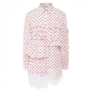 Блузка 4 Moncler Simone Rocha Genius. Цвет: красный