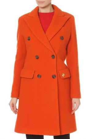 Пальто Roberto Cavalli. Цвет: оранжевый