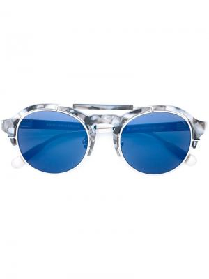 Солнцезащитные очки 64 С4 Kris Van Assche. Цвет: синий