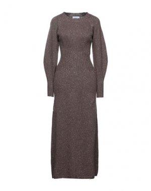 Платье миди BEATRICE. Цвет: коричневый