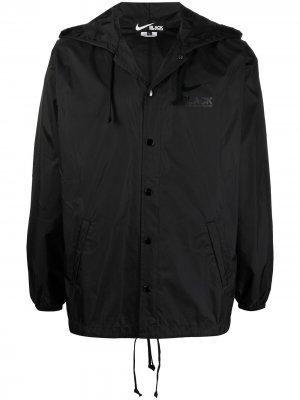 Куртка с капюшоном и логотипом Black Comme Des Garçons. Цвет: черный