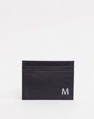 Кожаный кошелек для карт -Черный Peter Werth