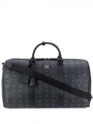 Дорожная сумка MCM. Цвет: черный