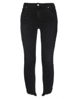 Джинсовые брюки-капри JOE'S JEANS. Цвет: черный