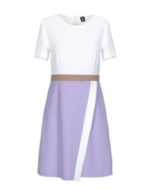 Короткое платье 1-ONE. Цвет: слоновая кость